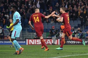 ملخص مباراة برشلـونة وروما 0-3